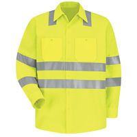 Red Kap SS14AB High Visibility Safety Long Sleeve Work Shirt Thumbnail