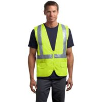CornerStone CSV405 Ansi 107 Class 2 Mesh Back Safety Vest Thumbnail